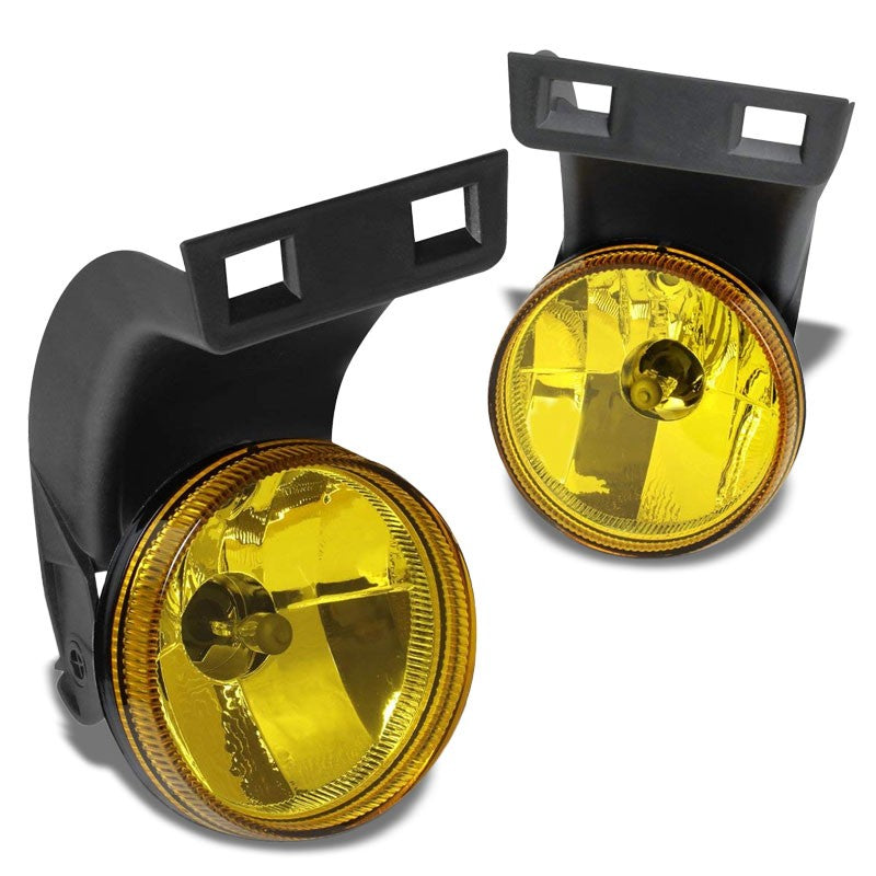 Front Bumper Drive Fog Light Lamp+Bulbs Amber Lens For 94-98 Ram 1500 2500 3500-Exterior-BuildFastCar