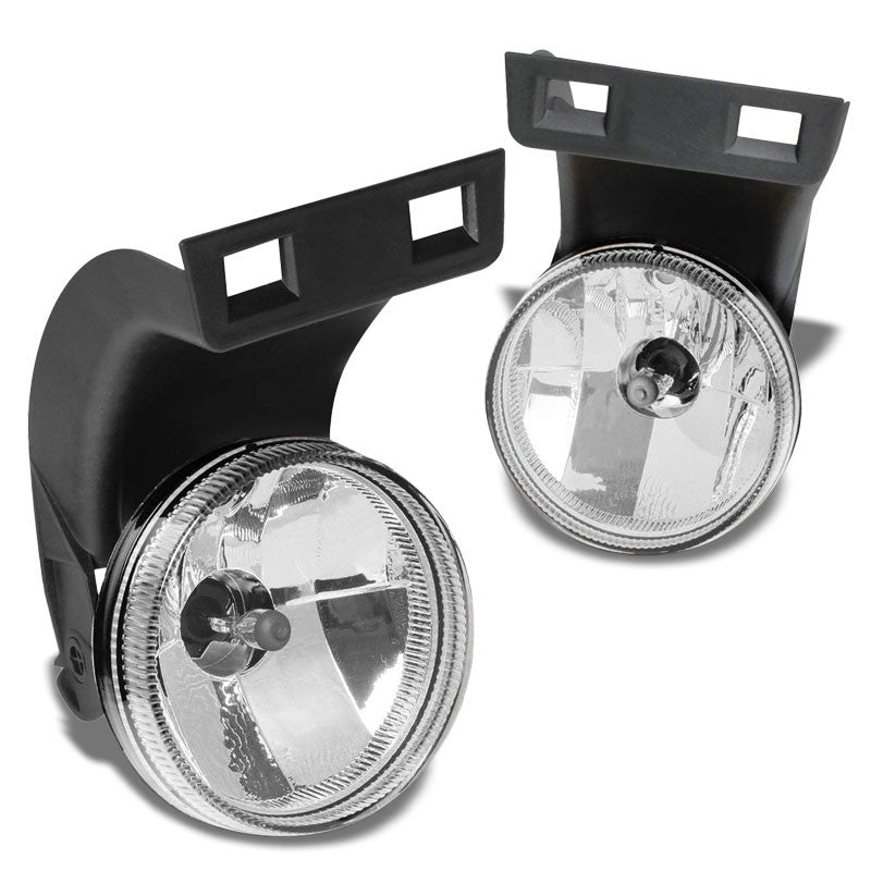 Front Bumper Drive Fog Light Lamp+Bulbs Clear Lens For 94-98 Ram 1500 2500 3500-Exterior-BuildFastCar