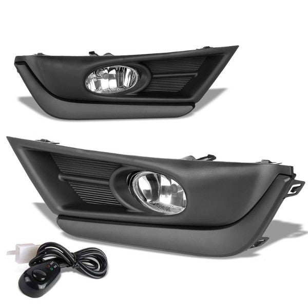 Clear Lens Front Driving Fog Light Lamp Kit++Bezel+Switch For 17-18 Honda CR-V-Exterior-BuildFastCar