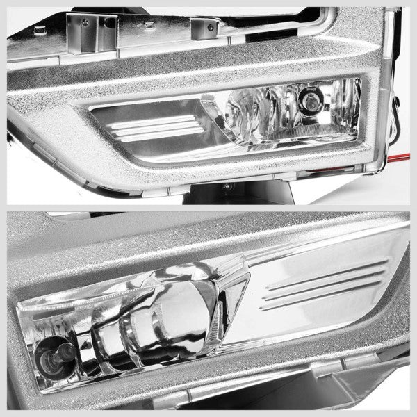 Clear Lens Front Driving Fog Light Lamp Kit+Bezel+Switch For 17-18 Nissan Rogue-Exterior-BuildFastCar