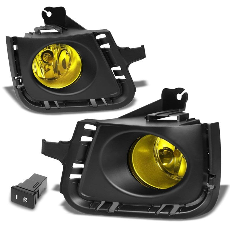 Front Bumper Drive Fog Light Lamp Black Bezel+Bulbs Amber Lens For 12-14 Prius C-Exterior-BuildFastCar