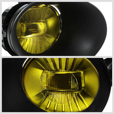 OE Style Front LED Fog Light Lamp+Bezel/Switch Chrome/Amber For 02-08 Ram 1500-Lighting-BuildFastCar-BFC-FOLK-RAM0208-AM