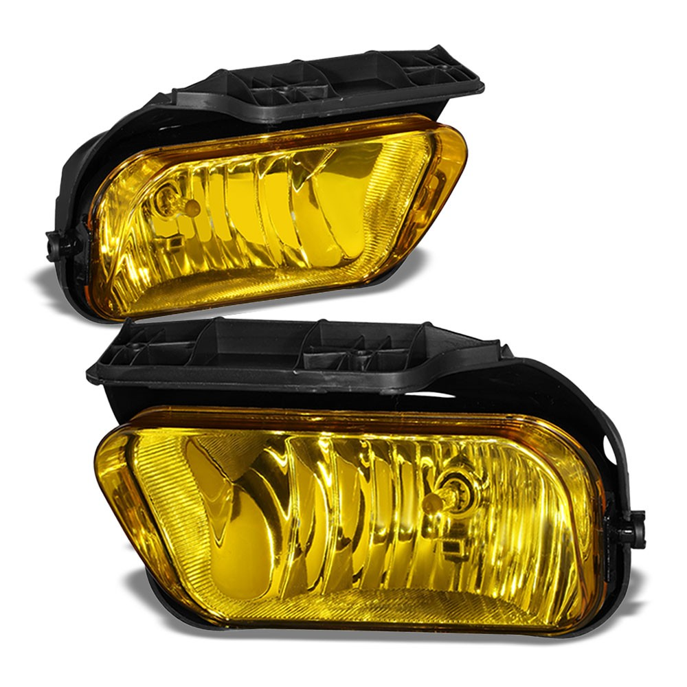 Front Bumper Amber Lens Fog Light Lamp+Bulbs For 04-07 Silverado 1500 HD Classic-Lighting-BuildFastCar