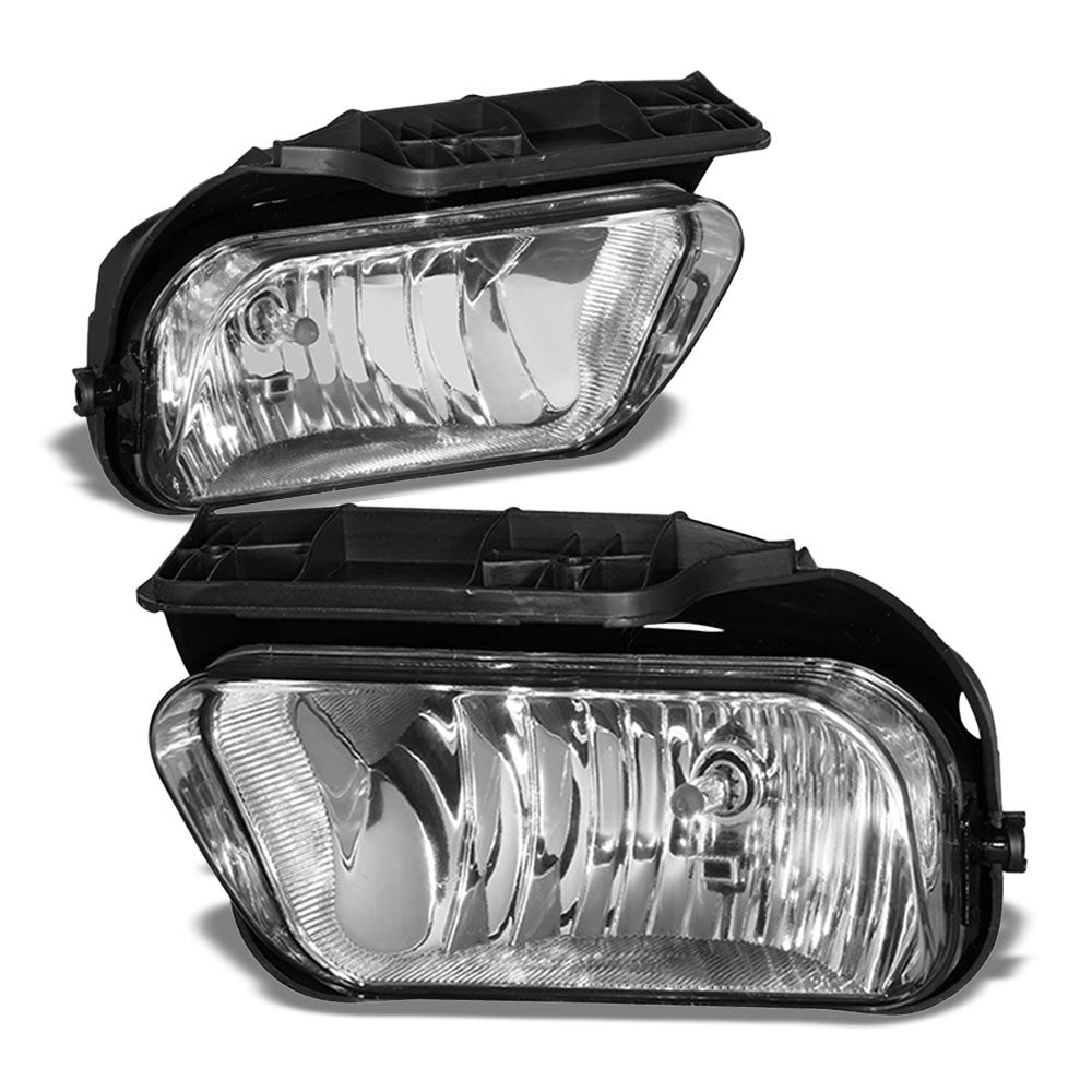 Front Bumper Clear Lens Fog Light Lamp+Bulbs For 04-07 Silverado 1500 HD Classic-Lighting-BuildFastCar