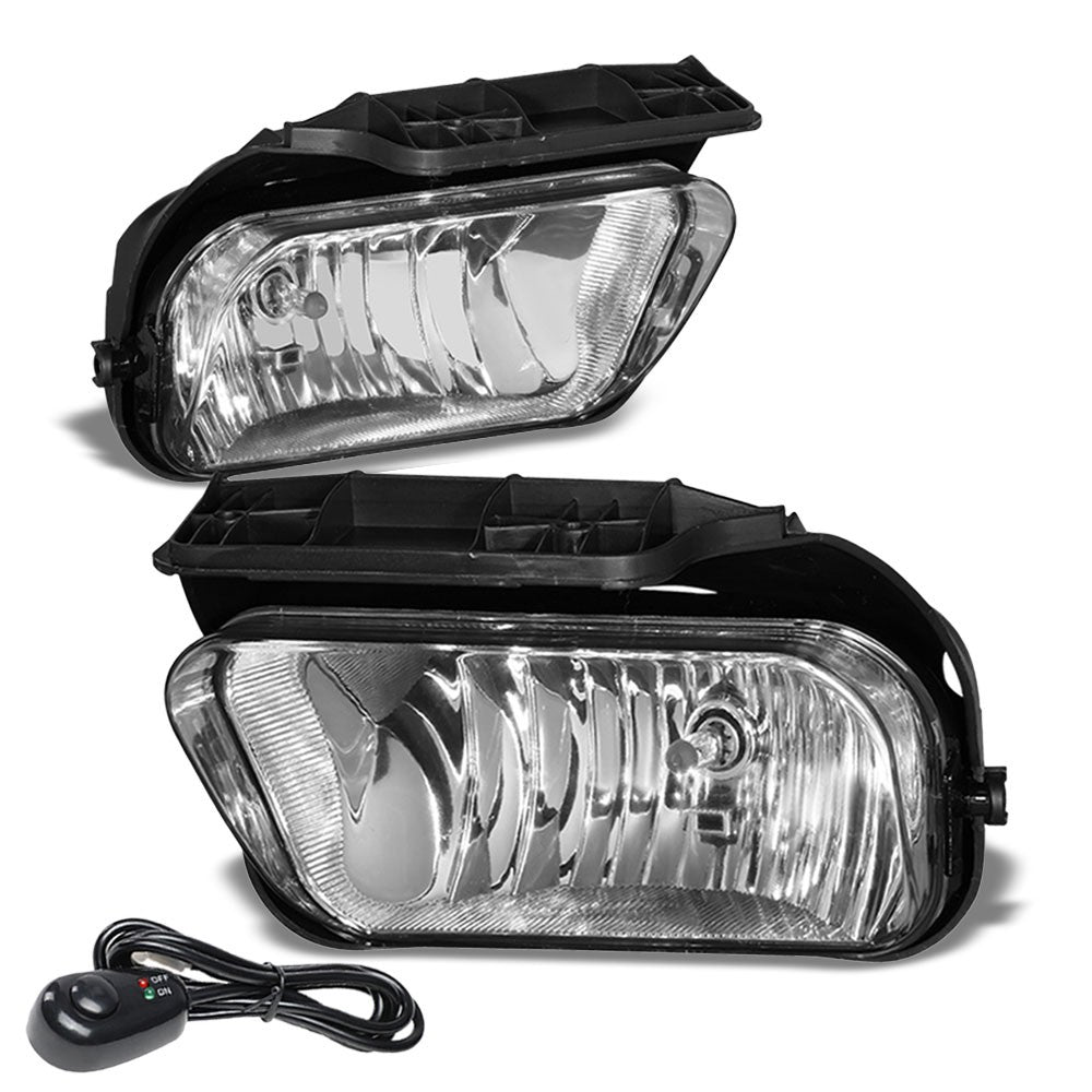 Front Bumper Clear Lens Fog Light Lamp+Bulbs For 02-06 Chevy Avalanche 1500 2500-Lighting-BuildFastCar