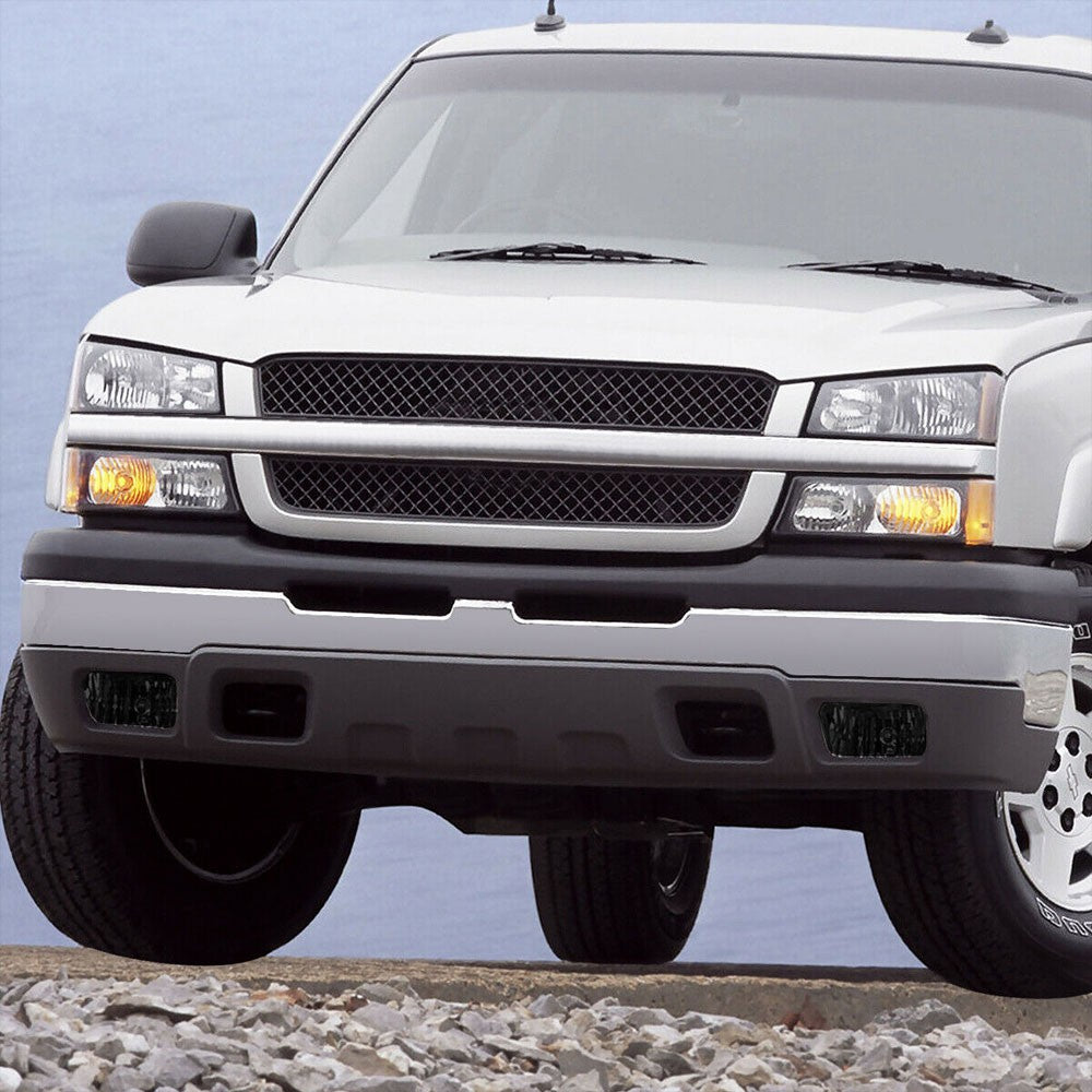 Front Bumper Smoke Lens Fog Light Lamp+Bulbs For 02-06 Chevy Avalanche 1500 2500-Lighting-BuildFastCar