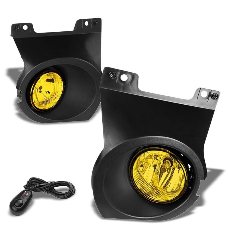 Front Bumper Driving Fog Light Lamp Kit Bezel+Bulbs Amber Lens For 09-14 F-150-Exterior-BuildFastCar