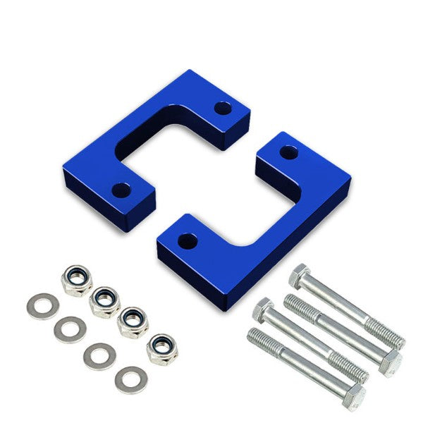 "1.5"" Front Blue Low Mount Leveling Lift Kit Spacer For 07-17 Silverado 1500-Suspension-BuildFastCar"
