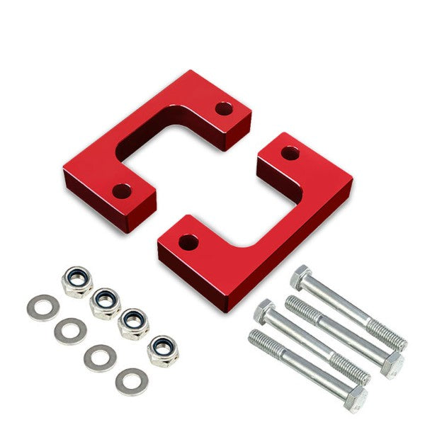 "2"" Front Red Low Mount Leveling Lift Kit Spacer For 07-17 Silverado 1500-Suspension-BuildFastCar"