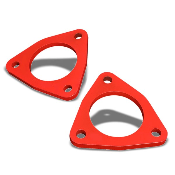 "1/2"" Front Red Strut Top Mount Leveling Lift Kit Spacer For 07-17 Silverado 1500-Suspension-BuildFastCar"