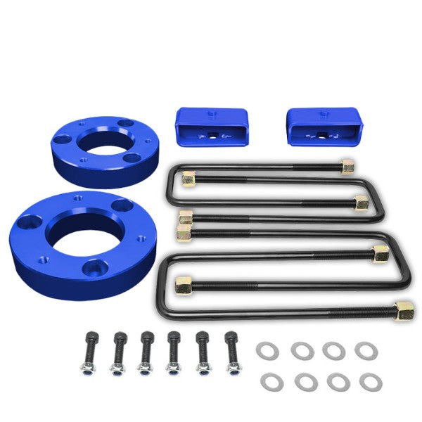 "2"" F/2"" R Blue High Mount Leveling Kit Spacer/Block For 07-17 Silverado 1500-Suspension-BuildFastCar"