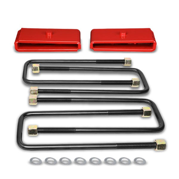 "1"" Rear Red Leaf Spring Mount Leveling Lift Kit Block For 99-17 Silverado 1500-Suspension-BuildFastCar"