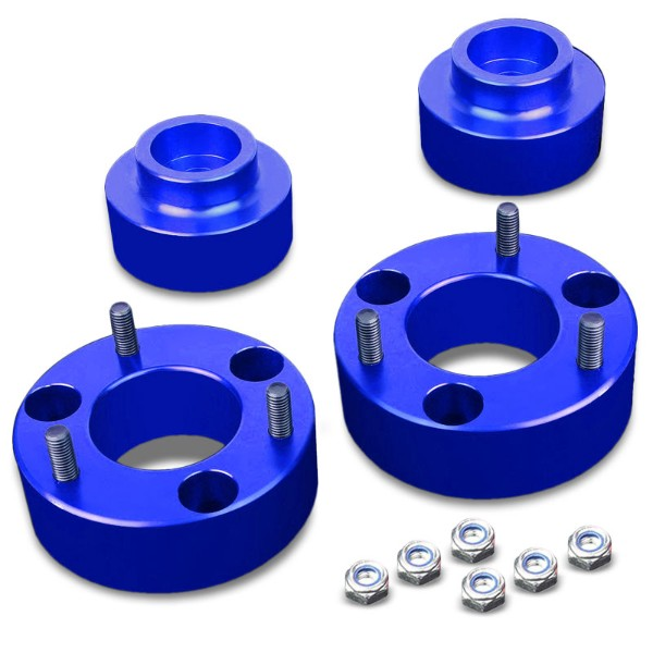 "2.5""F/1.5""R Blue Strut Top/Spring Leveling Lift Kit Spacer For 09-10 Ram 1500-Suspension-BuildFastCar"