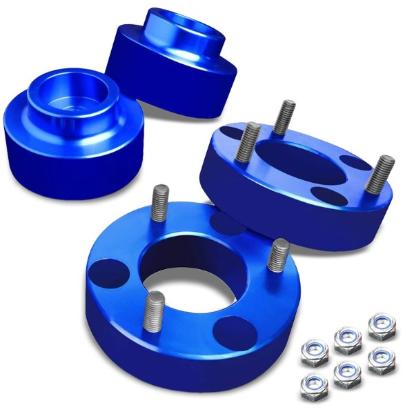 "2""F/1.5""R Blue Strut Top/Spring Leveling Lift Kit Spacer For 09-10 Ram 1500-Suspension-BuildFastCar"