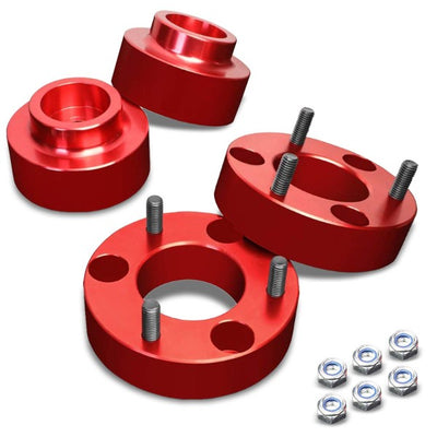 "2""F/1.5""R Red Strut Top/Spring Leveling Lift Kit Spacer For 09-10 Dodge Ram 1500-Suspension-BuildFastCar"