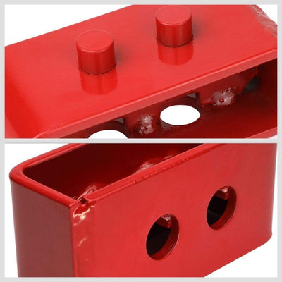 "2.5""F/2""R Red Strut Top/Spring Mt Leveling Lift Kit Spacer/Block For 04-17 F-150-Suspension-BuildFastCar"