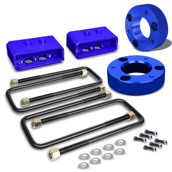 "2"" F/2"" R Blue Strut Top/Spring Mt Leveling Lift Kit Spacer/Block For 04-17 F150-Suspension-BuildFastCar"