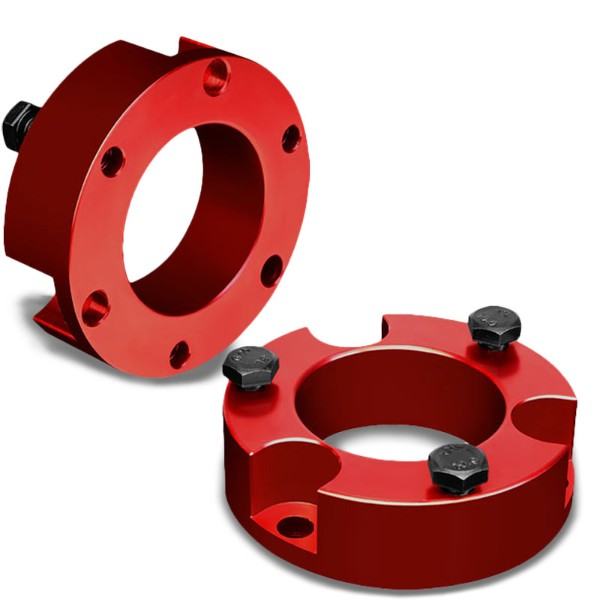 "2.5"" Front Red Strut Top Mount Leveling Lift Kit Spacer For 05-18 Toyota Tacoma-Suspension-BuildFastCar"