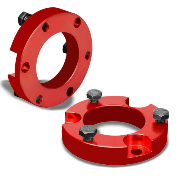 "2"" Front Red Strut Top Mount Leveling Lift Kit Spacer For 00-06 Toyota Tundra-Suspension-BuildFastCar"