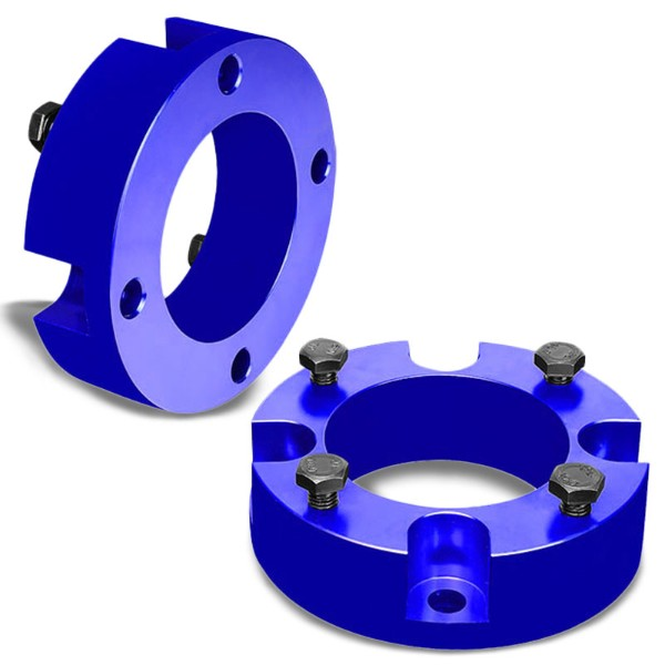 "2.5"" Front Blue Strut Top Mount Leveling Lift Kit Spacer For 07-18 Toyota Tundra-Suspension-BuildFastCar"