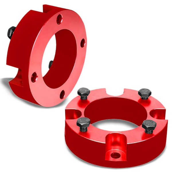 "2.5"" Front Red Strut Top Mount Leveling Lift Kit Spacer For 07-18 Toyota Tundra-Suspension-BuildFastCar"