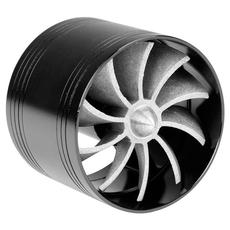"Black 2.5""-2.9"" Aluminum Propeller Turbonator Fan Intake/Turbo Fuel/Gas Saver-Performance-BuildFastCar"