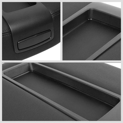 Black Factory Style Center Console Tray Lid Armrest Cover For 07-14 Chevy Tahoe-Consoles & Parts-BuildFastCar