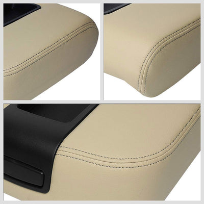 Beige Factory Style Center Console Tray Lid Armrest Cover For 07-14 GMC Yukon-Consoles & Parts-BuildFastCar
