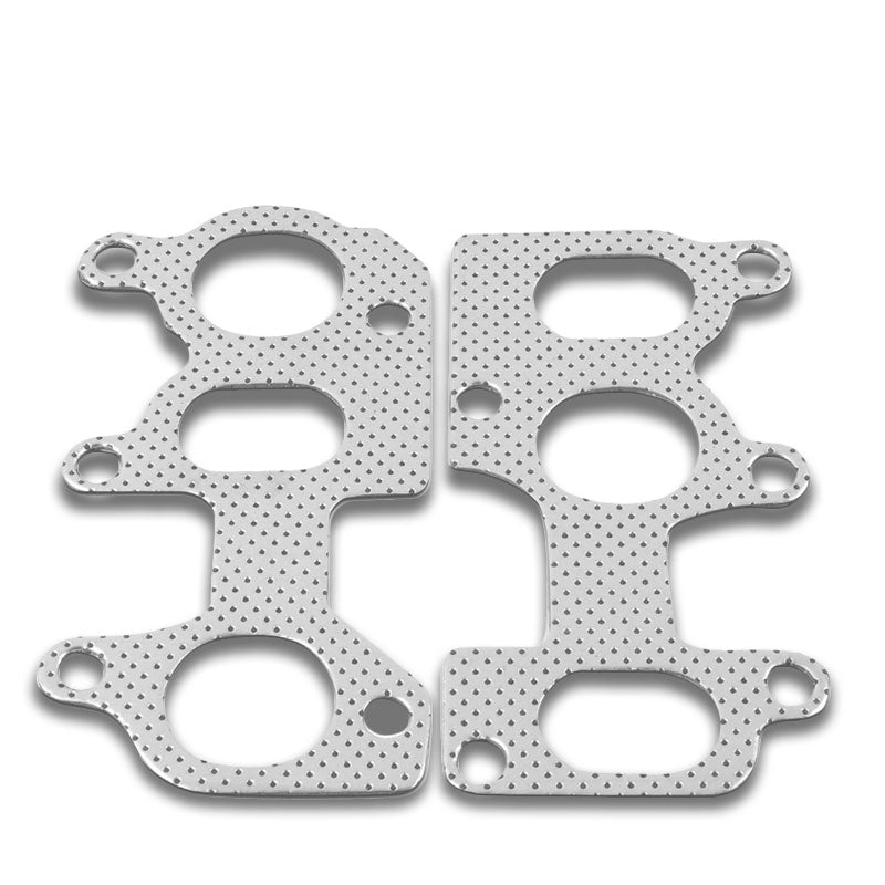Graphite Aluminum Header/Manifold/Exhaust Gasket for VW 92-04 Jetta MK4 2.8L VR6-Exhaust Systems-BuildFastCar