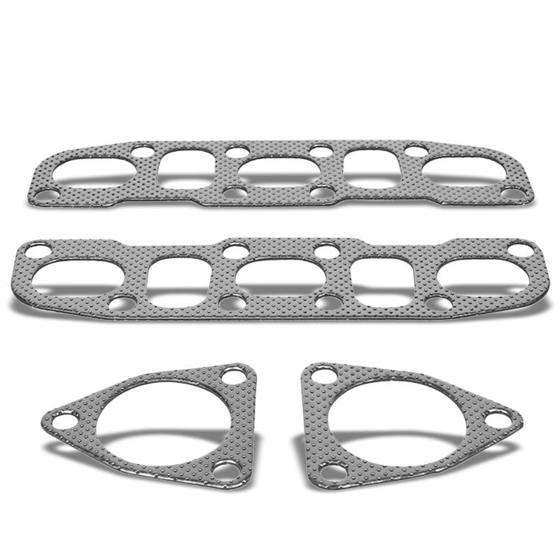 BFC Aluminum Graphite Exhaust Gasket Replacement For 03-06 Nissan 350Z/Z33 3.5L-Exhaust Systems-BuildFastCar-BFC-12-1007
