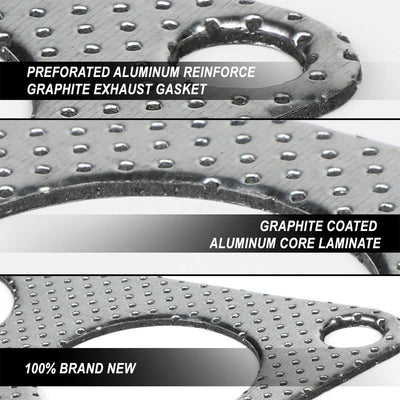 BFC Aluminum Graphite Exhaust Gasket For 94-01 Acura Integra GSR/Type-R DOHC-Exhaust Systems-BuildFastCar-BFC-12-1009