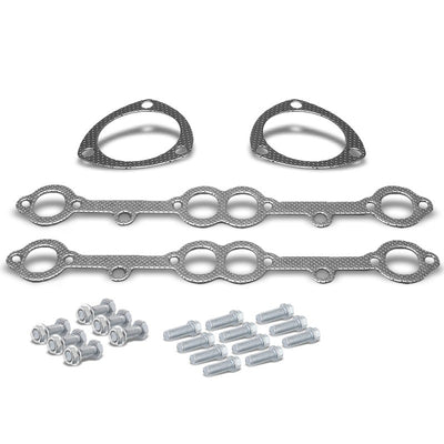 BFC Aluminum Graphite Exhaust Gasket For 69-91 Chevrolet Blazer 5.0L/5.7L V8-Exhaust Systems-BuildFastCar-BFC-12-1021