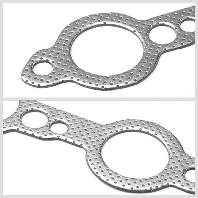 BFC Aluminum Graphite Exhaust Gasket For 98-15 Chevrolet Camaro 5.7L/6.2L V8-Exhaust Systems-BuildFastCar-BFC-12-1025