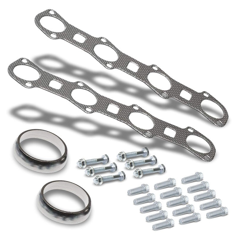 BFC Aluminum Graphite Exhaust Gasket Replacement For 99-03 F-150 5.4L V8 SOHC-Exhaust Systems-BuildFastCar-BFC-12-1038