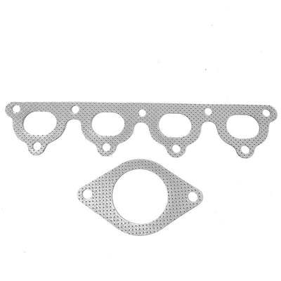 BFC Aluminum Graphite Exhaust Gasket For 93-97 Honda Civic del Sol S/SI SOHC-Exhaust Systems-BuildFastCar-BFC-12-1071