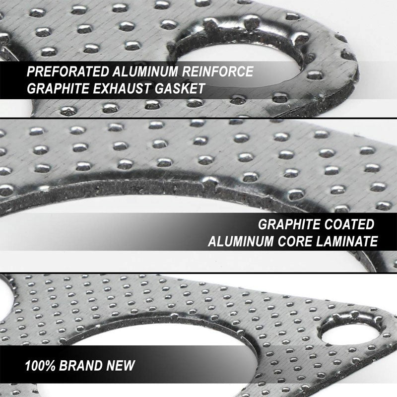 BFC Aluminum Graphite Exhaust Gasket For 90-01 Acura Integra 1.7L/1.8L DOHC-Exhaust Systems-BuildFastCar-BFC-12-1081