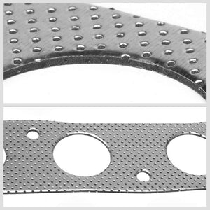 BFC Aluminum Graphite Exhaust Gasket For 00-05 Toyota MR2 Spyder W30 Base 1.8L-Exhaust Systems-BuildFastCar-BFC-12-1094