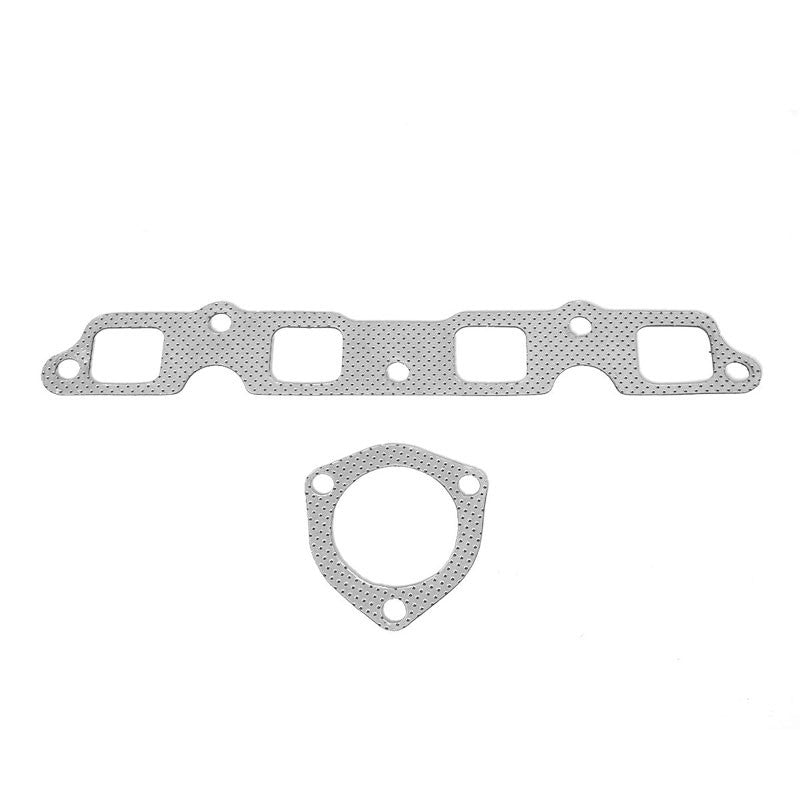 Aluminum Graphite, Steel Bolts//Studs, Silver Exhaust Gasket Works With 80-82 Toyota Corolla 1.8L