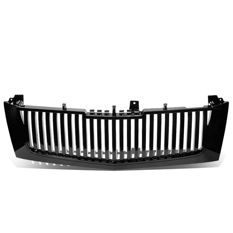 Black Vertical Style Replacement Front Grille For 02-06 Escalade/EXT/ESV Base V8-Exterior-BuildFastCar