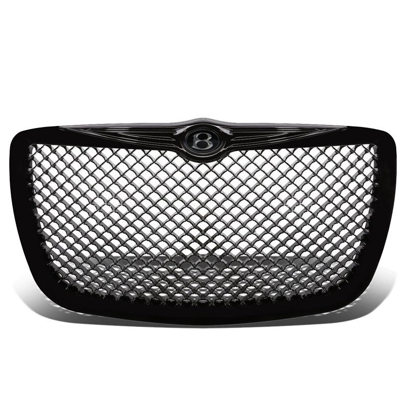 Black Diamond Mesh Style Replacement Front Grille For 05-10 300 V6/V8 DOHC/SOHC-Exterior-BuildFastCar