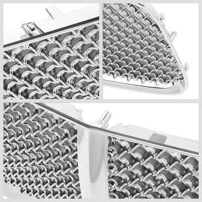 Chrome Diamond Mesh Style Replacement Grille For 11-14 Charger LX Sedan V6/V8-Grilles-BuildFastCar