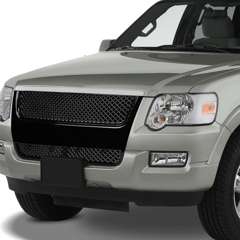Black Diamond Mesh Style Front Grille For 07-10 Explorer U251 4.0L/4.6L V6/V8-Exterior-BuildFastCar