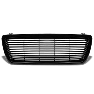 Black Vent Style Replacement Grille For Ford 04-08 F-150 P2 4.2L/4.6L/5.4L V6/V8-Exterior-BuildFastCar