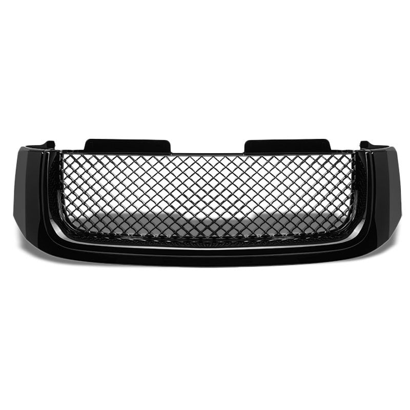 Black Diamond Mesh Style Replacement Front Grille For GMC 02-09 Envoy/XL/XUV-Exterior-BuildFastCar