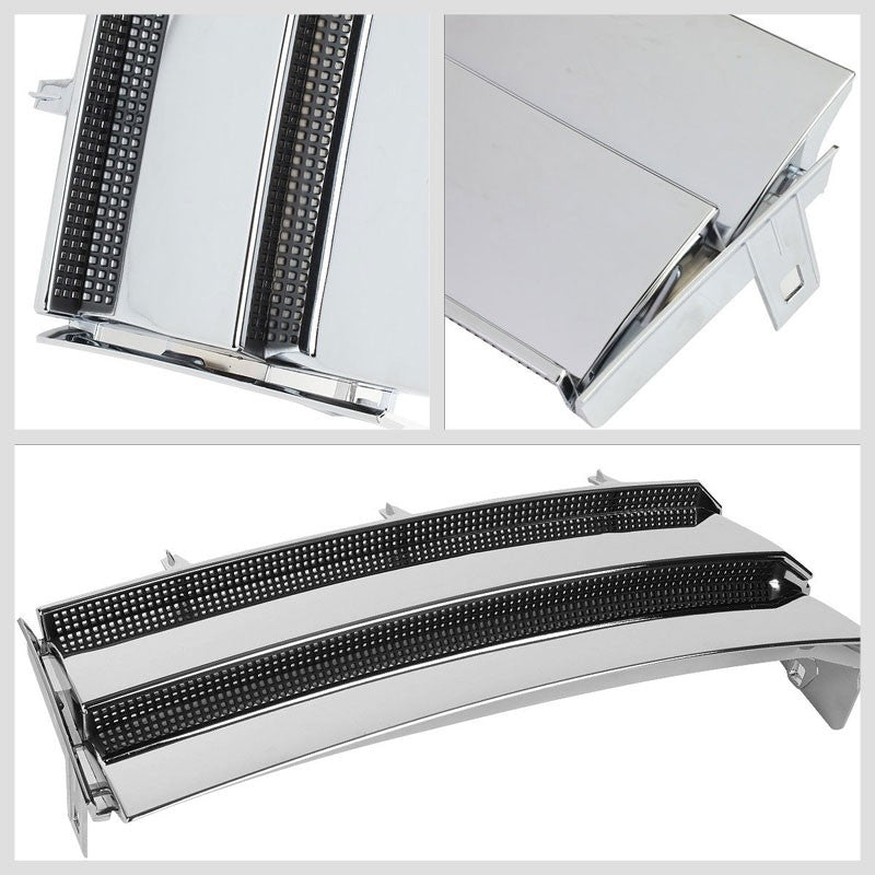 Chrome Body/Black Mesh OE Style Side Vent Grille For 03-12 Range Rover V8 DOHC-Exterior-BuildFastCar