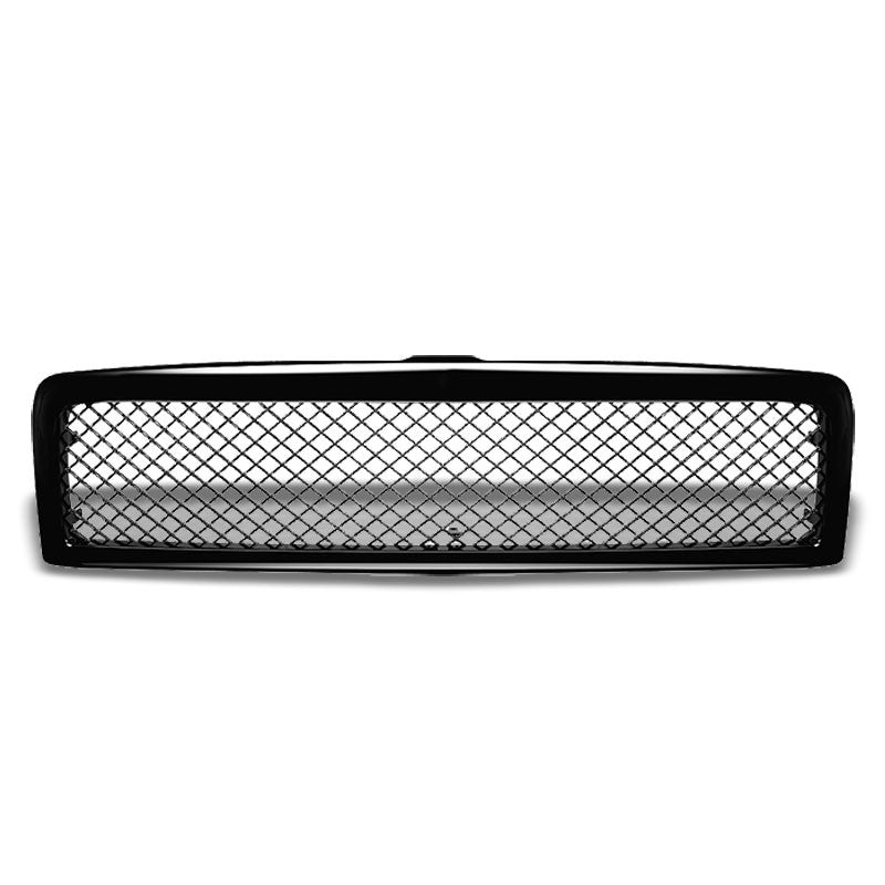 Black Diamond Mesh Style Replacement Front Grille For 94-02 Ram 1500/2500/3500-Exterior-BuildFastCar