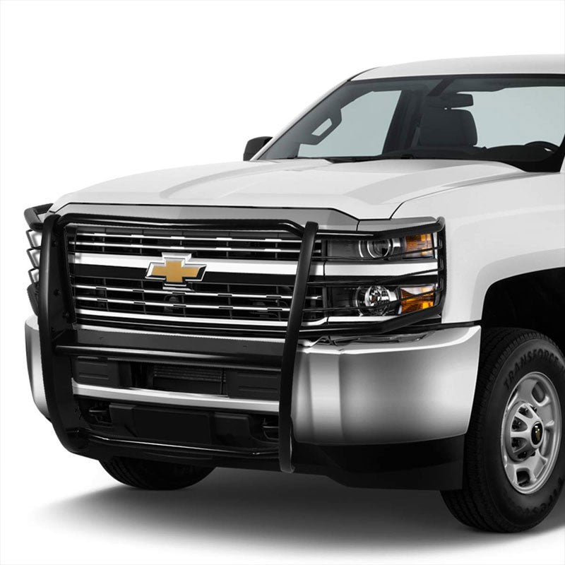 Black Mild Steel Full Front Grille Guard For 11-14 Chevrolet Silverado 2500 HD
