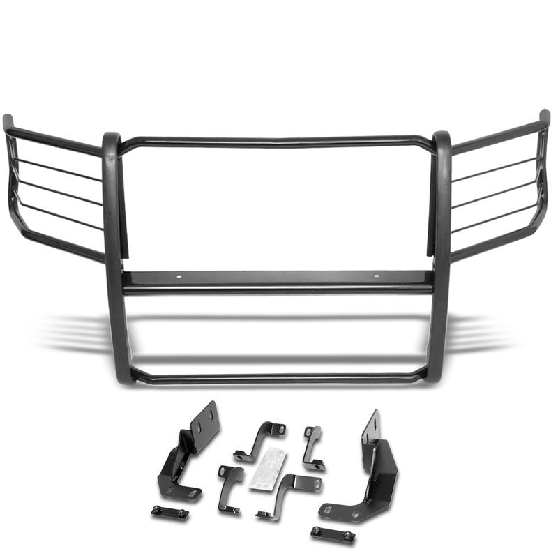 Black Mild Steel Full Front Grille Guard For 15-19 Ford F-150 2.7L/3.0L/5.0L-Grille Guards & Bull Bars-BuildFastCar