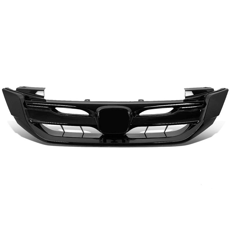 Vertical Fence Glossy Black Front Upper Grille For 13-15 Honda Accord Sedan 4DR-Grilles-BuildFastCar-BFC-FGR-1-HON13ACC-T1-BK