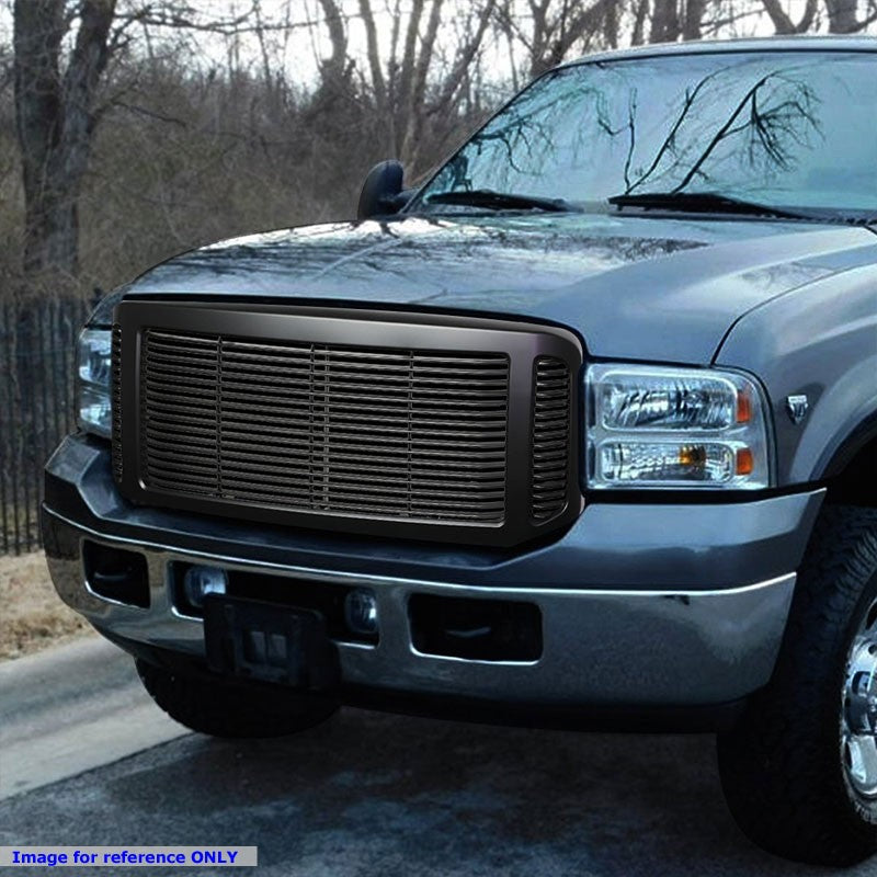 Powdercoated Black Badgeless Style Front Bumper Grille For 05-07 Ford F-250 SD-Grilles-BuildFastCar